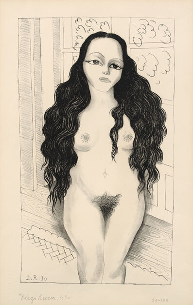 Diego Rivera, 'Nude with Long Hair (Desnudo de Lola Olmedo, Lola Olmedo Nude) (G. 895)', 1930