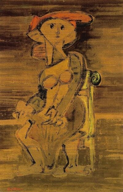 Jankel Adler, 'Seated Woman', ca. 1941