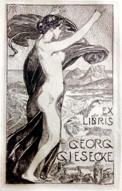 Max Klinger, 'Ex libris Kommerzienrat Georg Giesecke', 1900s