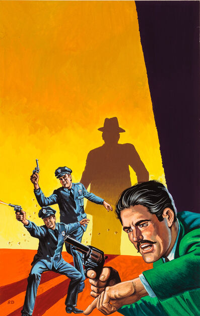 'Untitled (Cops and man with green suit shoot shadow figure)', c. 1960-75