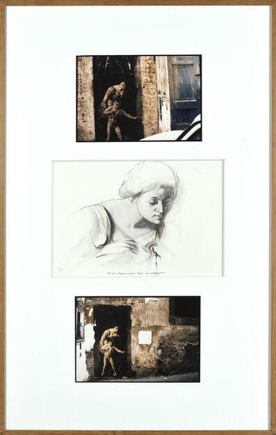 Ernest Pignon-Ernest, 'Etude pour la madone au serpent', 1991