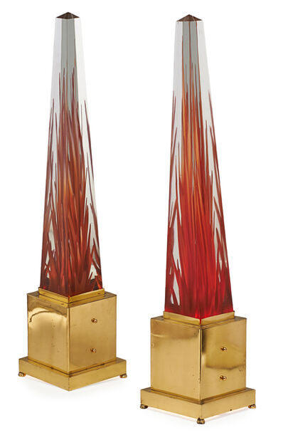 Fulvio Bianconi, 'Pair Of Fulvio Bianconi Murano Glass Obelisks', 20th c.