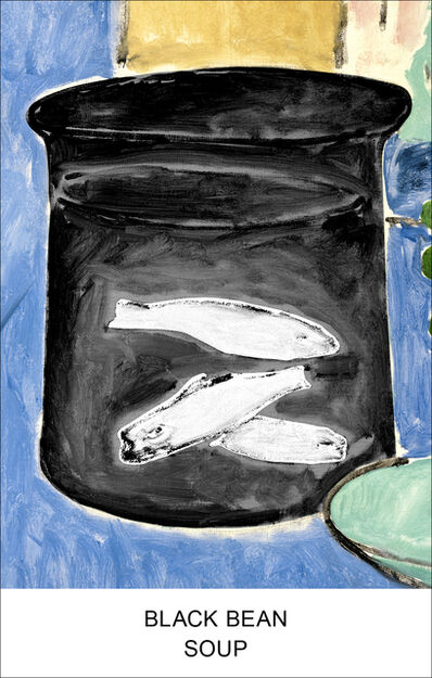 John Baldessari, 'Eight Soups: Black Bean Soup', 2012