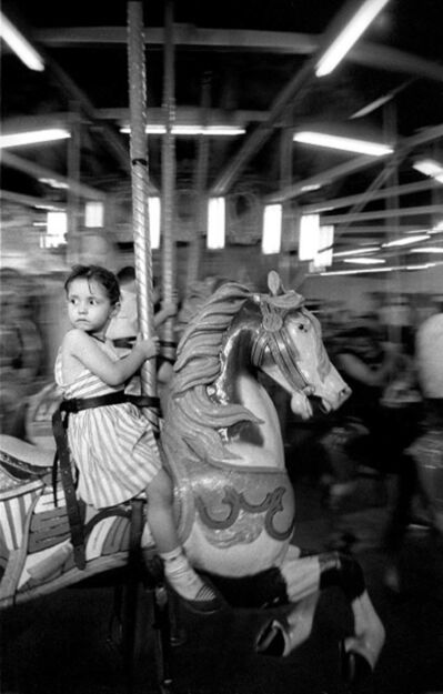 Harold Feinstein, 'Girl on the Merry-Go-Round, Coney Island', 1957