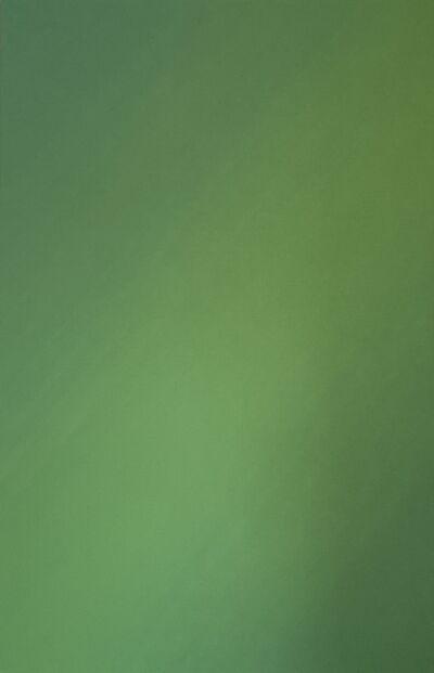 Lothar Quinte, 'Die Farbe Grün, diagonal ', 1999