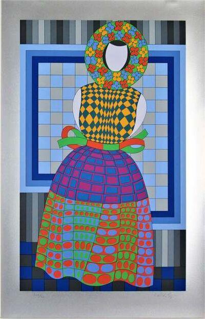 Victor Vasarely, 'Blomsterflicka', 1987