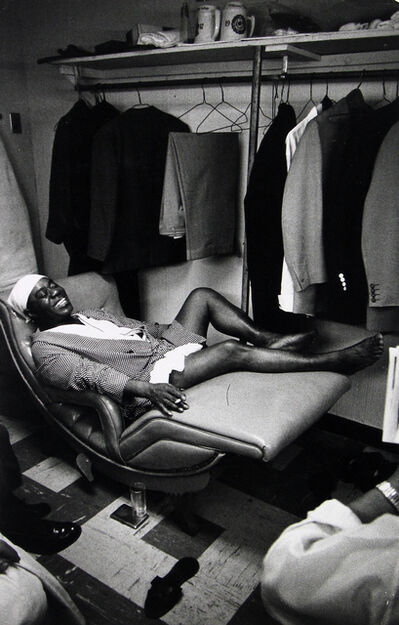 Dennis Stock, 'Louis Armstrong in his dressing room at the Latin Casino', 1959