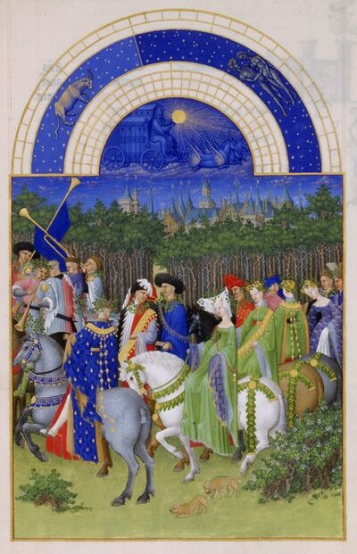 Limbourg Brothers, 'May, miniature from the Très Riches Heures', ca. 1411-1416