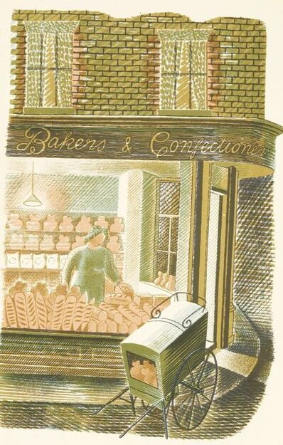 Eric Ravilious, ''BAKERS AND CONFECTIONERS'', c.1938