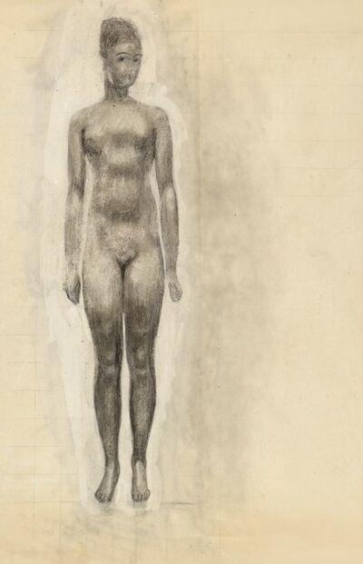 Alfons Walde, 'Girl Nude', ca. 1919