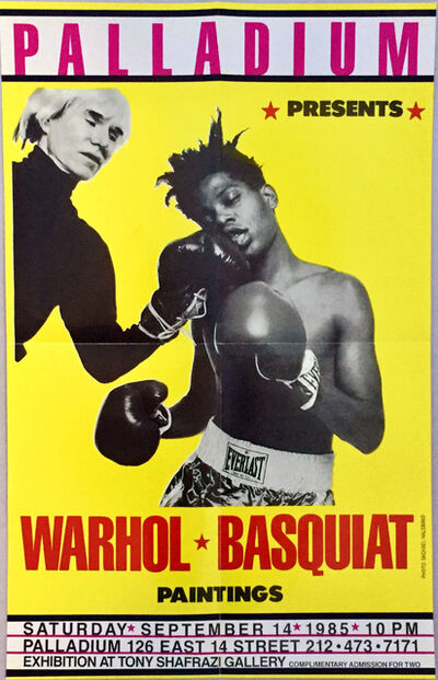 Andy Warhol, 'Warhol, Basquiat Boxing Poster (Tony Shafrazi, The Palladium 1985)', 1985