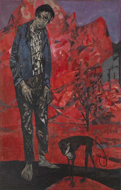 Bryan Kneale, 'Man with Monkey', 1955