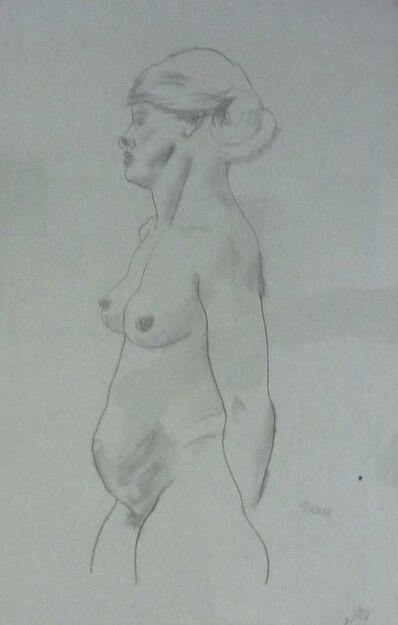 George Grosz, 'Stehender weiblicher Akt', 1921