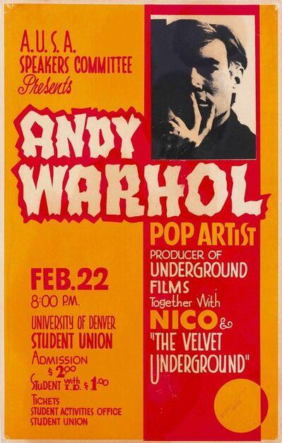 Andy Warhol, 'The Velvet Underground', 1968