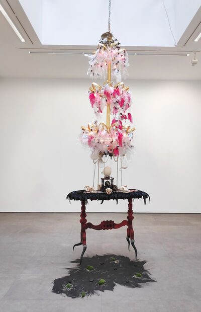 Rina Banerjee, 'With tinsel and teeth, gem and gem... get back, get back to where you once belonged', 2005