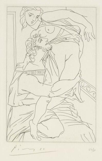Pablo Picasso, 'Cinésias et Myrrhine, from Lysistrata', 1934