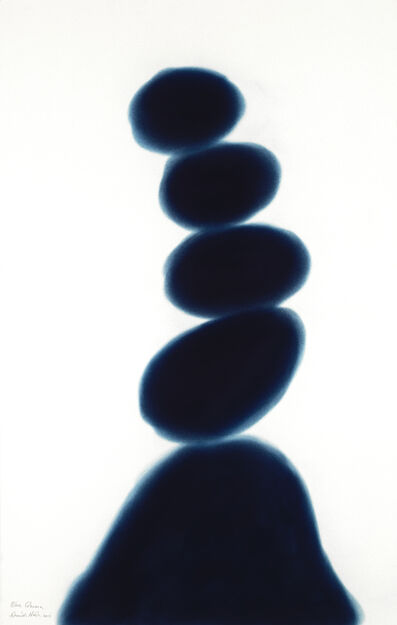 David Nash, 'Blue Column', 2017