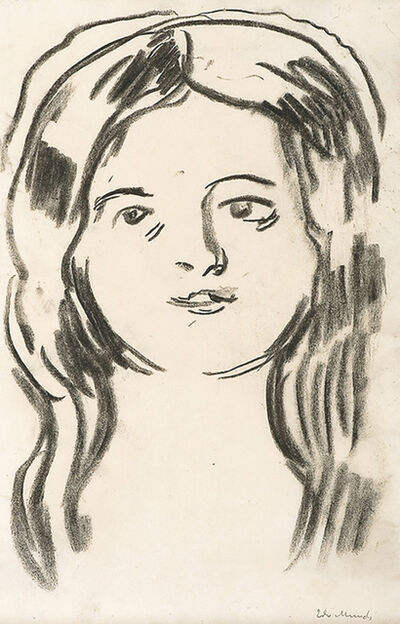Edvard Munch, 'Mossepiken (The Girl from Moss)', 1910-1911