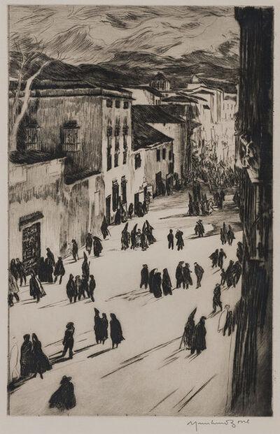 Muirhead Bone, 'A Spanish Good Friday (Ronda) (Dodgson 412)', 1925