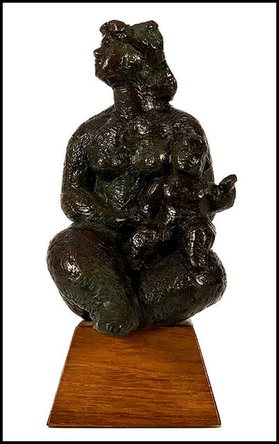 Chaim Gross, 'Seated Mother and Child', 1976