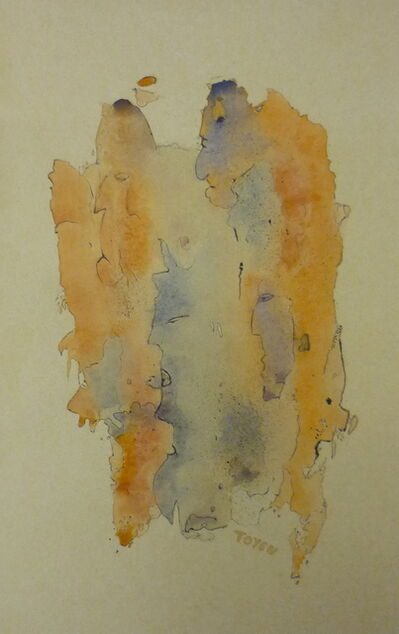 Toyen, 'Watercolor and ink on brown paper'