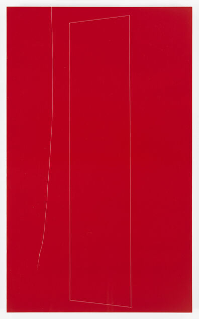 Kate Shepherd, 'Red Structure, Little Sister thread, 1', 2016