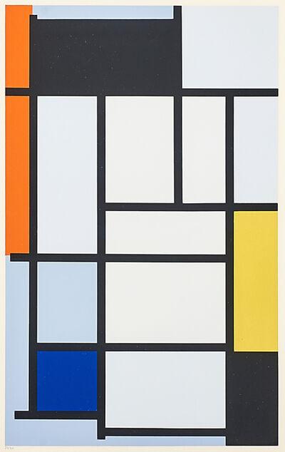 Piet Mondrian, 'Composition Avec Rouge', 1921