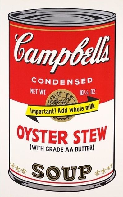 Andy Warhol, 'Oyster Stew Campbells Soup', 1969