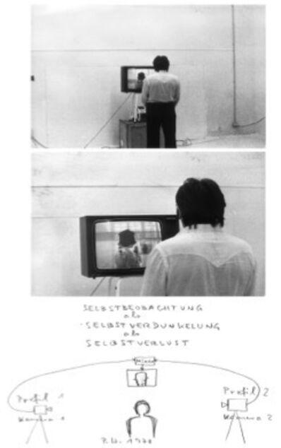 Peter Weibel, 'Selbstbeobachtung als Selbstverdunkelung als Selbstverlust', 1974
