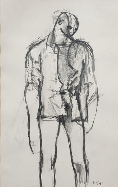 Keith Vaughan, 'Untitled (Standing Youth with a Shirt)', 1958