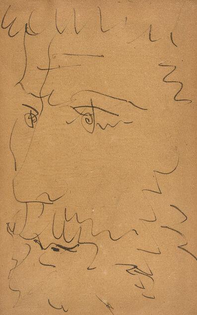 Pablo Picasso, 'Tête d'homme barbu - Nu assis (au dos)', 1881-1973