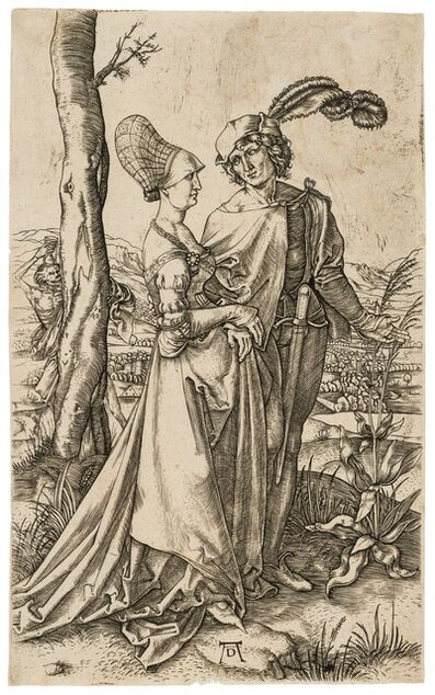 Marcantonio Raimondi, 'The Promenade, after Albrecht Dürer', circa 1500-1515