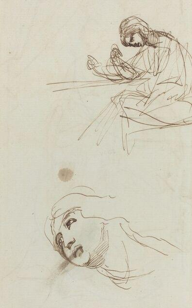 George Romney, 'Figure Studies [verso]', 1780s