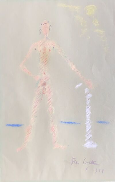 Jean Cocteau, 'Un Personnage Debout et Nu (A Nude Standing Figure)', 1958