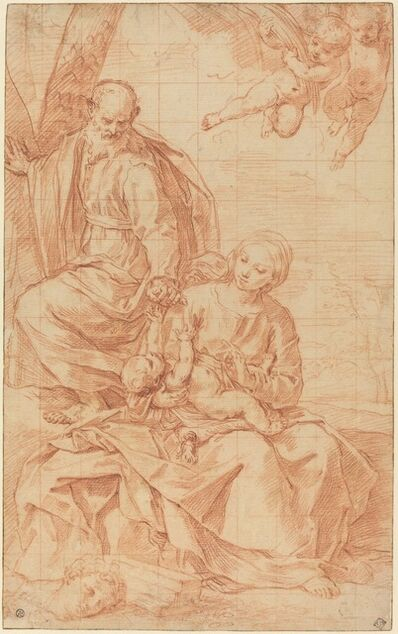 Simone Cantarini, 'The Rest on the Flight into Egypt, or The Miracle of the Palm Tree', late 1630s