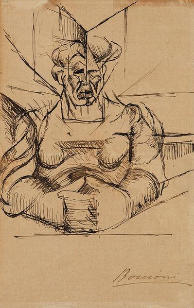 Umberto Boccioni, 'Studio per Testa + casa + luce (La madre)', 1912