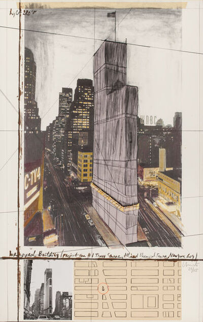 Christo, 'Wrapped Building (Project for #1 Times Square, Allied Chemical Tower, New York City)', 1991