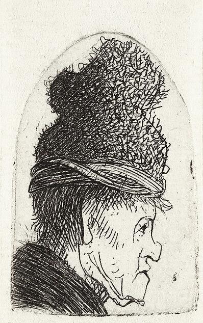 Rembrandt van Rijn, 'Grotesque Profile: Man in a High Cap', circa 1631