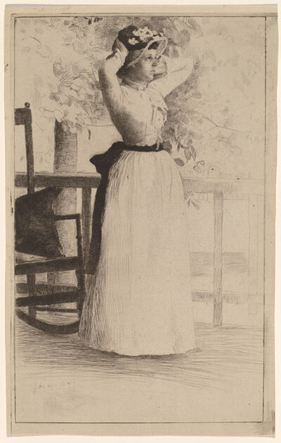 Julian Alden Weir, 'Portrait of Miss Hoe', 1889