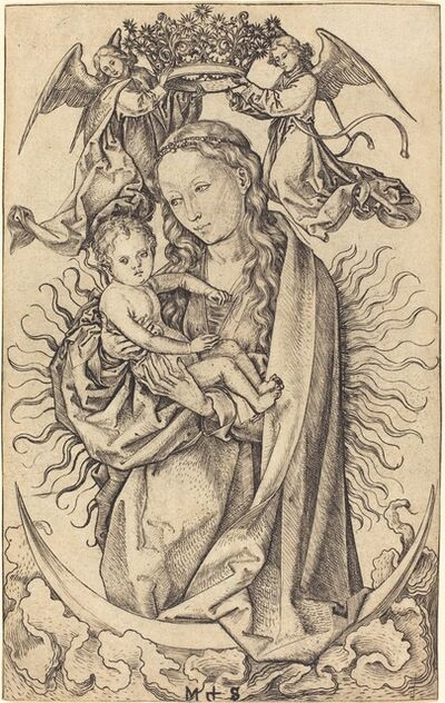 Martin Schongauer, 'Madonna on the Crescent', ca. 1470