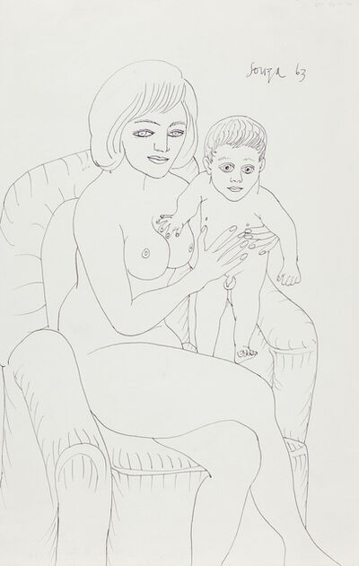 Francis Newton Souza, 'Untitled (Mother & Son)', 1963