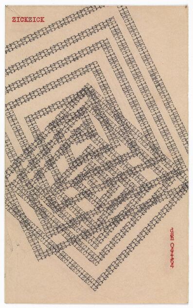 Dom Sylvester Houédard, '041164 (Zickzick)', 1964