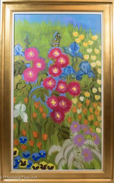 Margarita Lozano, 'Garden with Hollyhock', 2005