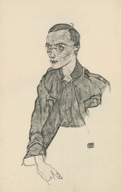 """Egon Schiele, '""""One-Year Volunteer Private"""", Zeichnungen (plate V)', 1917"""