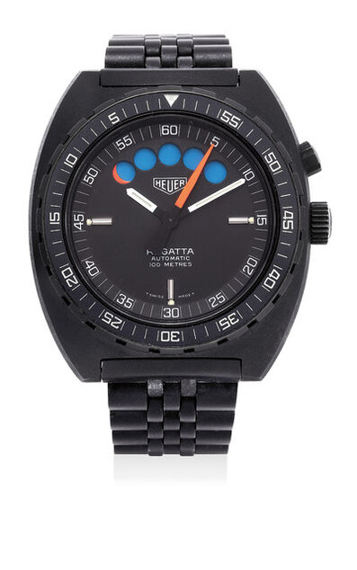 Heuer, 'A fine PVD-coated stainless steel regatta chronograph wristwatch with bracelet', Circa 1983