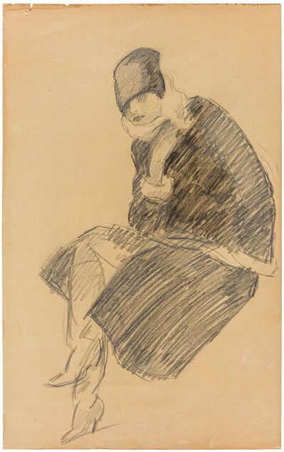 Marcello Dudovich, 'A woman with coat and ushanka', 1920s