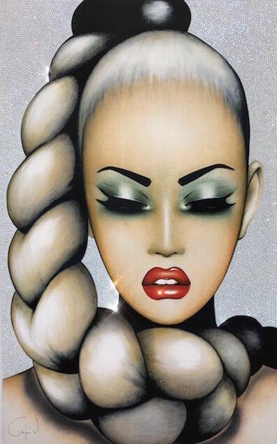 Anja Van Herle, 'Braidy Lady  - Original Painting on Panel'