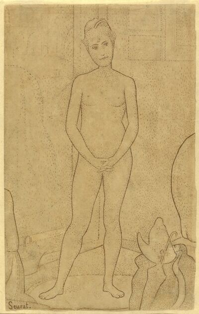 """Georges Seurat, 'Study after """"The Models""""', 1888"""