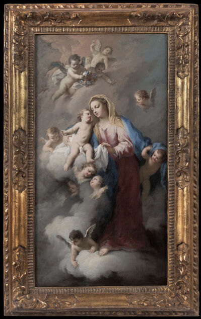 Jacopo Amigoni, 'Madonna and Child with Angels in the Clouds'