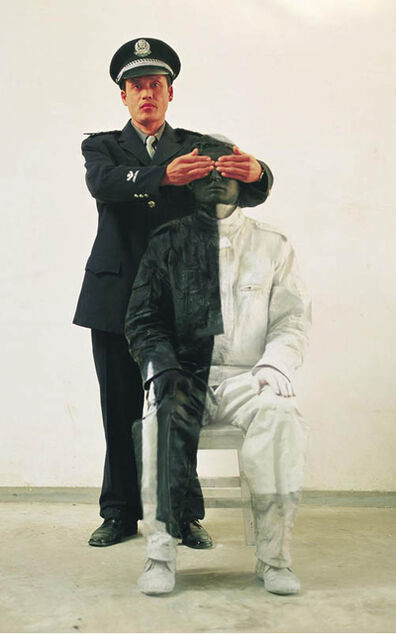 Liu Bolin, 'Civilian and Policeman #2', 2006